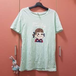 🚚 不二家tiffany綠薄荷綠軟妹短袖t-shirt