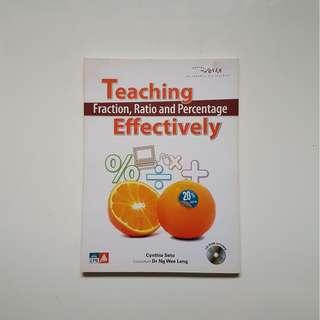 TEACHING FRACTION, RATIO AND PERCENTAGE EFFECTIVELY (CD-ROM INCLUDED)
