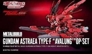 "METAL BUILD GUNDAM ASTRAEA TYPE-F ""AVALUNG'""OP-SET 正義女神F型用『雪崩突進型』OP配件組"