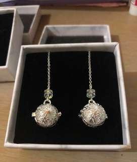 雪花鏤空精油耳環, 兩色:銀色、古銅,附精美禮盒