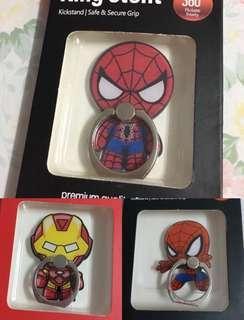 ✨買二送一 蜘蛛俠 iron man 復仇者聯盟 手機指環 手機扣 Ring Stent