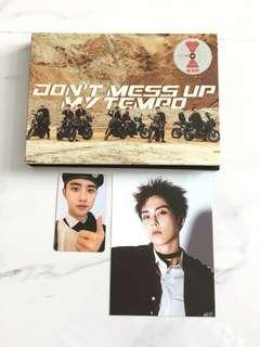 Exo dont mess up my tempo unsealed album + d.o photocard + xiumin postcard + poster instock