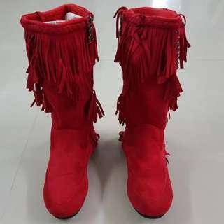 Red Boots Santarina Boots For Kids