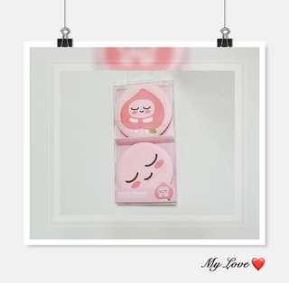 全新品 Made in Korea 可愛 Kakao friends AREACH 化妝 cushion puff 一盒 D-33