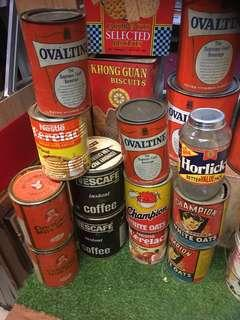 One lot vintage containers