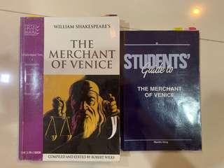 The merchant of Venice book (plus student's guide)