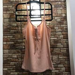Cotton on string pink top