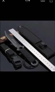 High Quality Stainless Steel Survival Knife Fixed Blade Outdoor Camping Pocket Knife Diving Kinfe Hunting Knife +Nylon Sheath