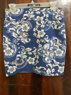 Pencil cut cotton skirts