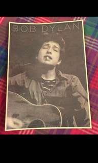 Sale 🌟BN Bob Dylan W Guitar smoking Poster 42x30cm