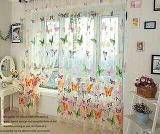 Butterfly transparent curtain