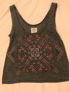 Aztec print tank top