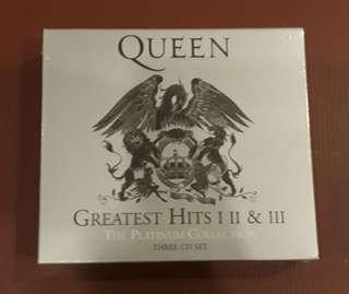 CD QUEEN - Greatest Hits I , II & III ( The Platinum Collection ) 3 Discs Set. IMPORTED FROM EUROPE,NEW & SEALED.