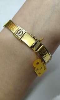 Gold bracelet 21.9 gram