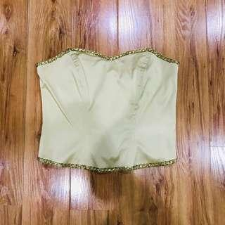 Light gold party tube top