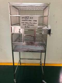 Stainless steel bird parrot cage for sale