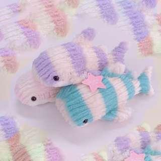 毛毛魚 暖笠笠 23cm長 粉色系列 聖誕禮物