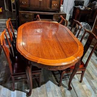 西式花梨木餐檯