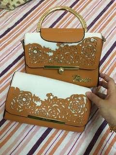 Bonia clutch/handbag copy ori