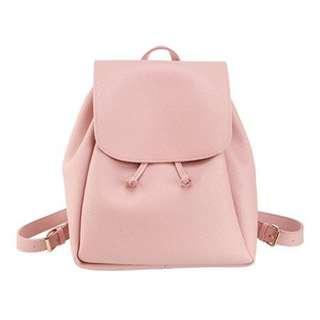 MINISO PINK LEATHER BACKPACK