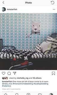 Ikea Minnen kids Children Black Metal Frame Bed