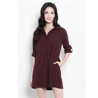 SSD Shopsassydream Ondine Shirtdress Terracotta