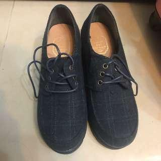 [購自日本]綠黑格高跟鞋
