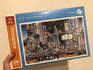🚚 全新未拆封紐約time square拼圖 (1000片)