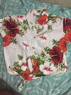 Button Top - Floral