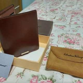 Dompet Kulit Salvatore Ferragamo Brown