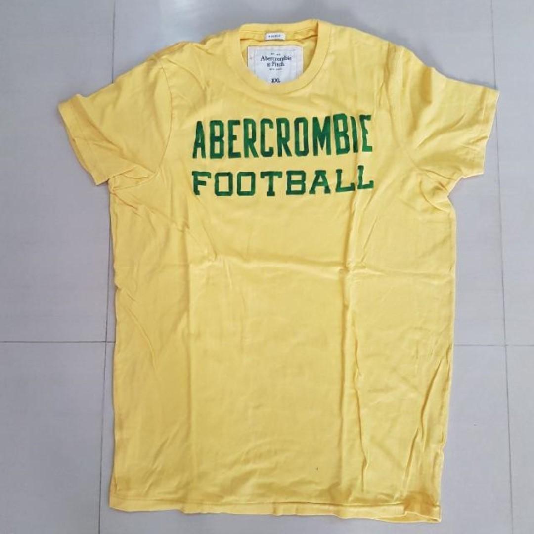 73a7717caa61 Abercrombie & Fitch Yellow T-shirt, Men, XXL (Muscle), Men's Fashion ...