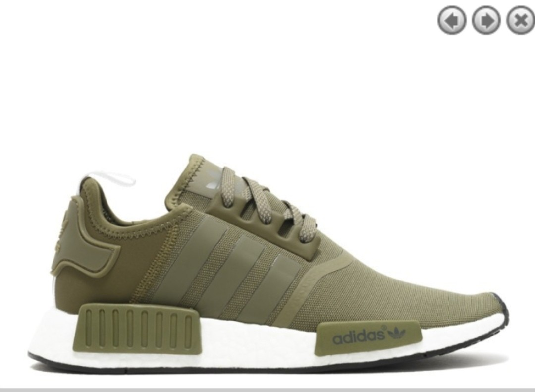 new styles acd32 34d12 Adidas NMD R1 Olive Green (very new!), Men's Fashion, Footwear ...