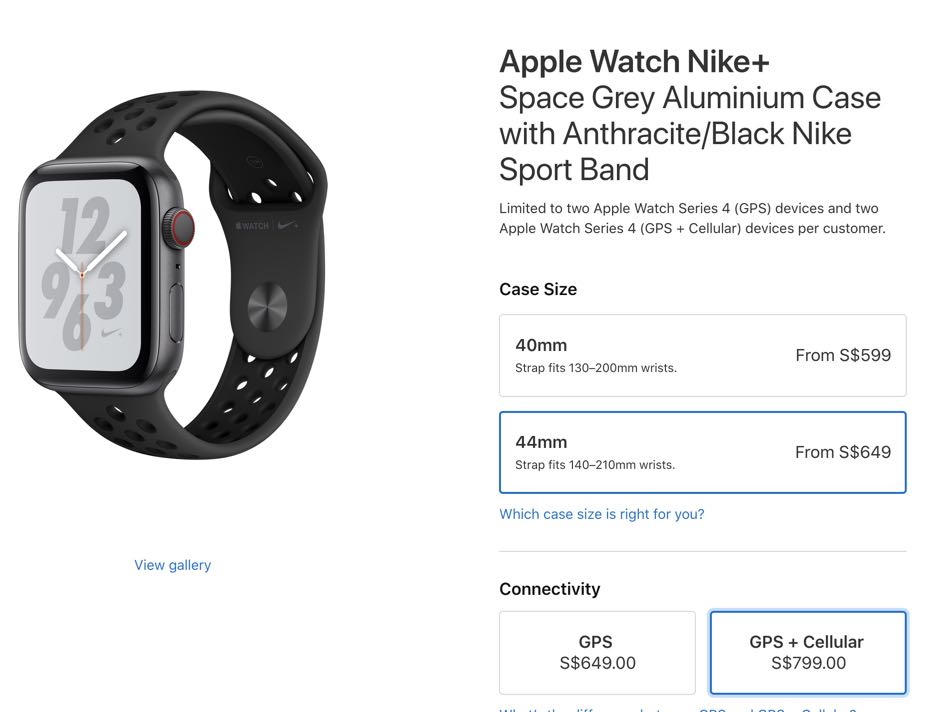 sports shoes b278b 3cb51 Apple Watch Series 4 Nike+ 44mm Cellular, Electronics, Others on Carousell