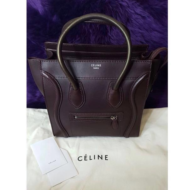 5803f1638a73 Authentic Brand New Celine Micro Luggage Bag
