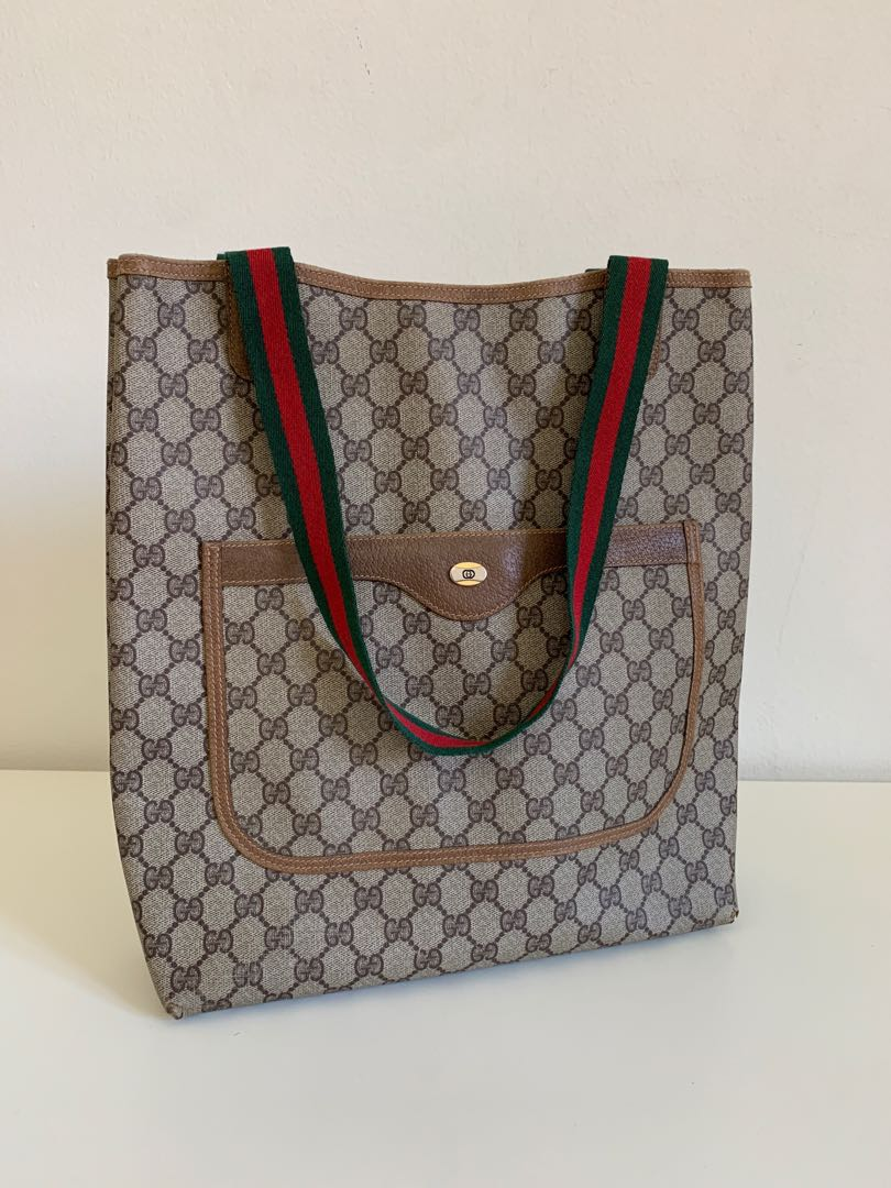 54f618a1ce1 Authentic Gucci Vintage 80 s Shopper Tote