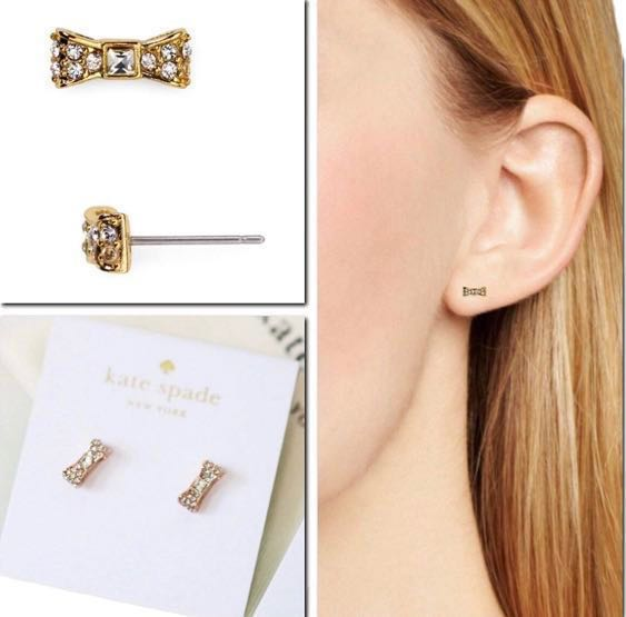 8bc396b14904 Authentic Kate Spade Bow Stud Earring, Women's Fashion, Jewellery ...