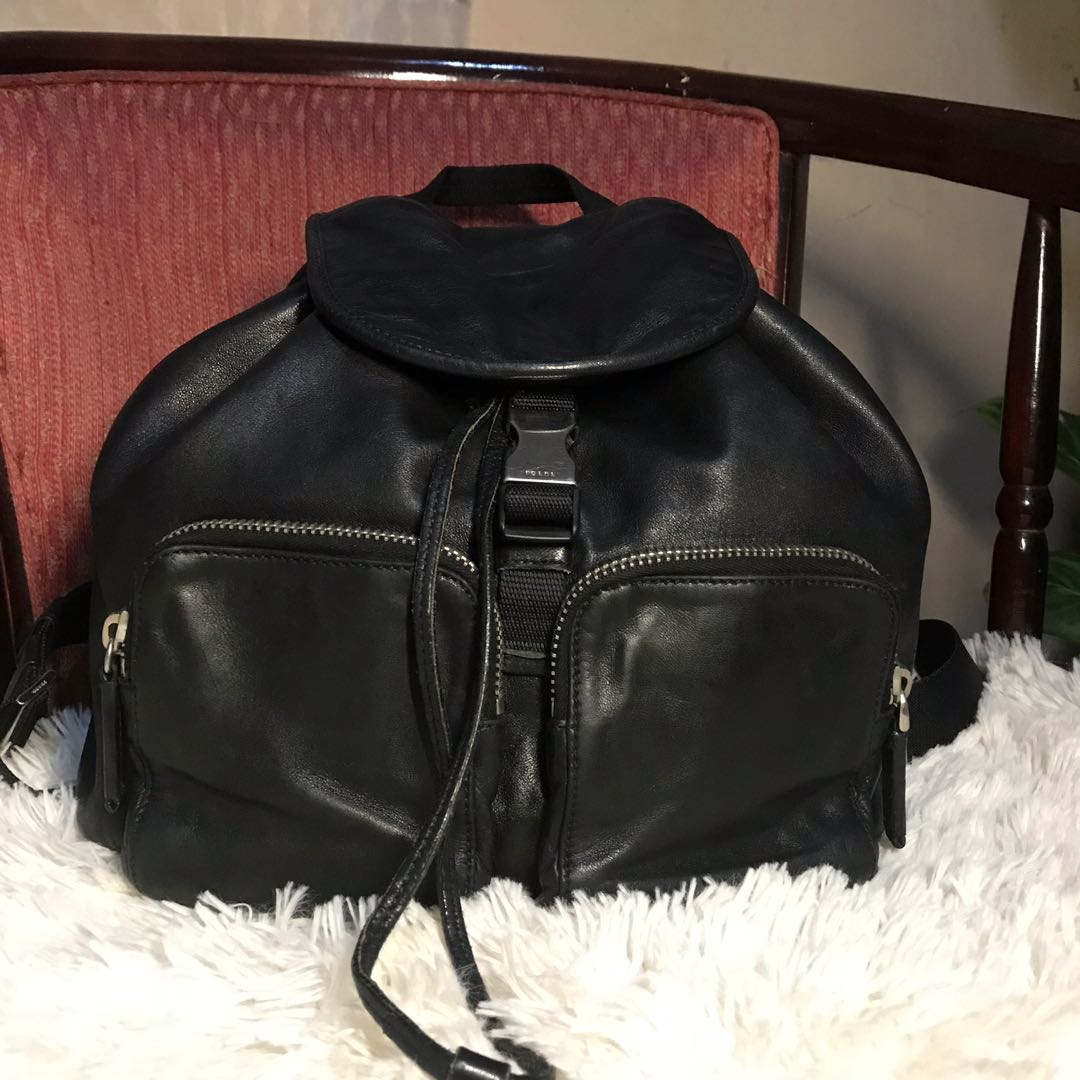 bbbcea6a8 Authentic Prada Leather Backpack, Luxury, Bags & Wallets on Carousell