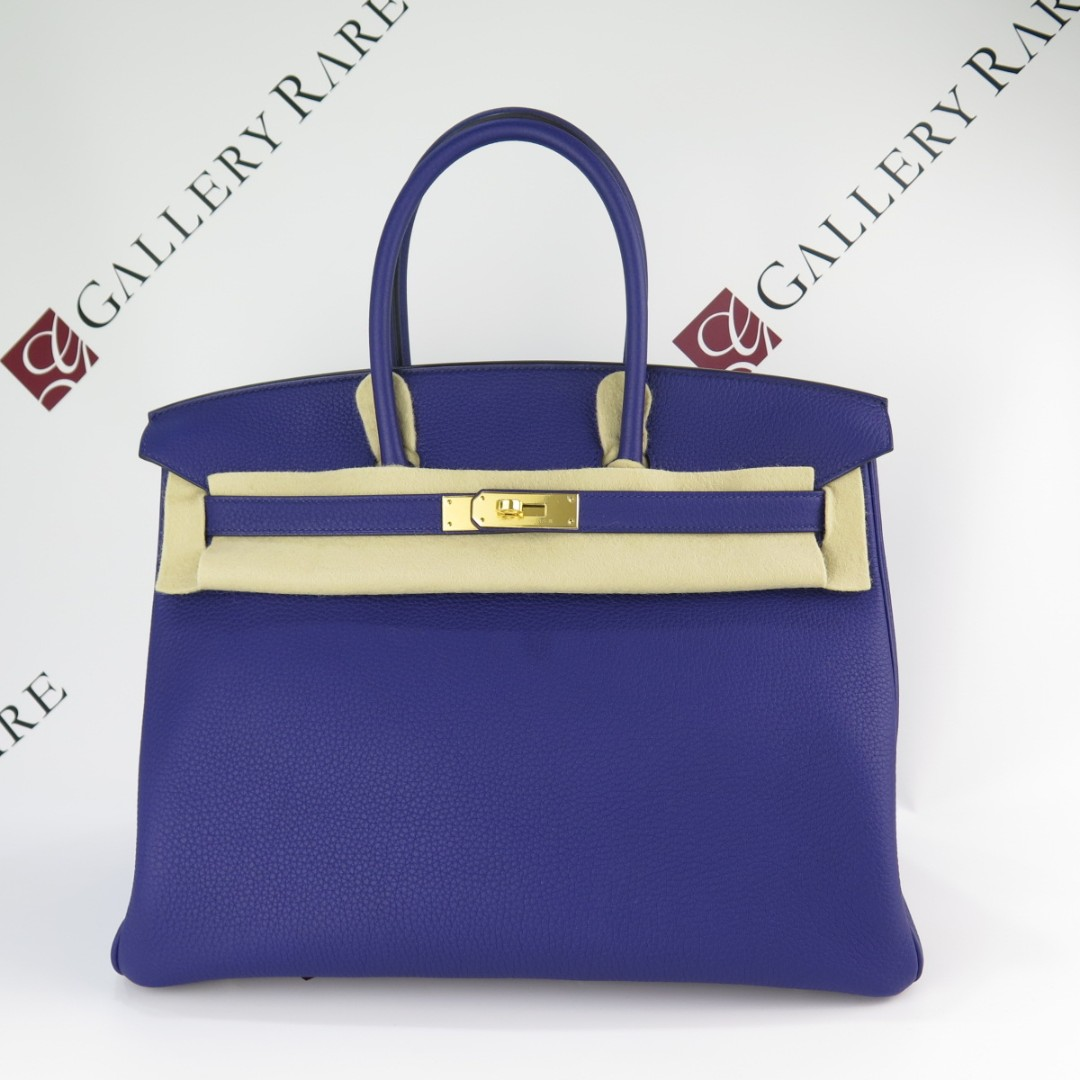 64e302c832 Birkin35 Bleu Encre Togo GHW StampC, Luxury, Bags & Wallets ...