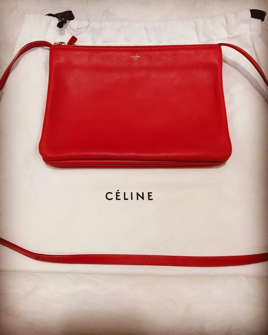bbcd59d01a14 Celine Trio Large Size RED and GOlD