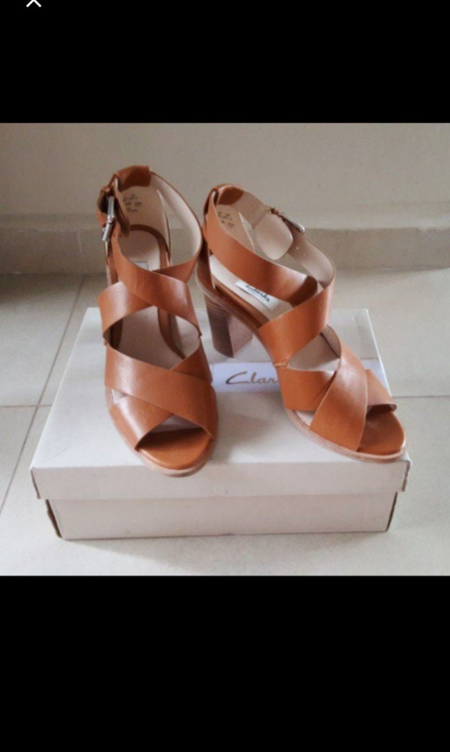 6987277bcf Clarks Brown Strappy Heels, Women's Fashion, Shoes, Heels on Carousell