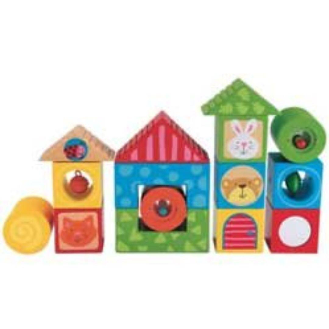 Early Learning Centre Wooden Activity Bricks Babies Kids Toys