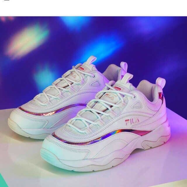 26506695d2ff FILA 2018 RAY PRISM WHITE PINK FS1SIA3063X UNISEX SHOES US SIZE 5 DISRUPTOR  II