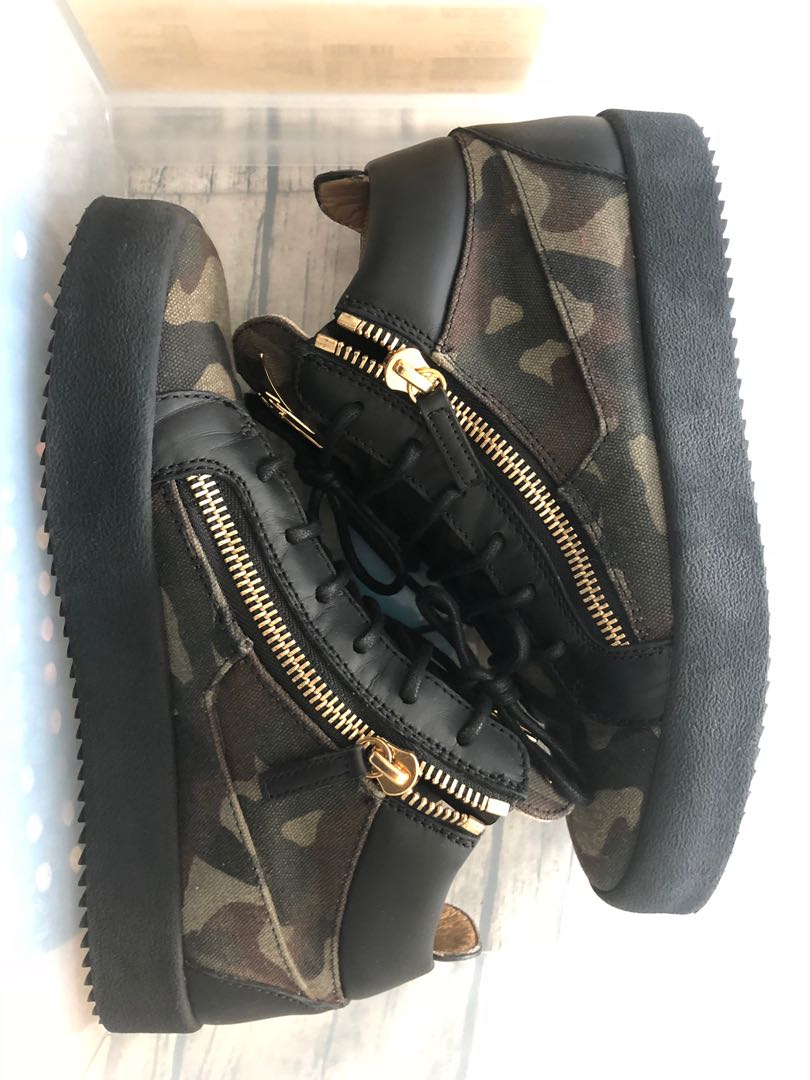 0051949dfea00 Giuseppe Zanotti mid-top camo sneakers, Men's Fashion, Footwear, Sneakers  on Carousell