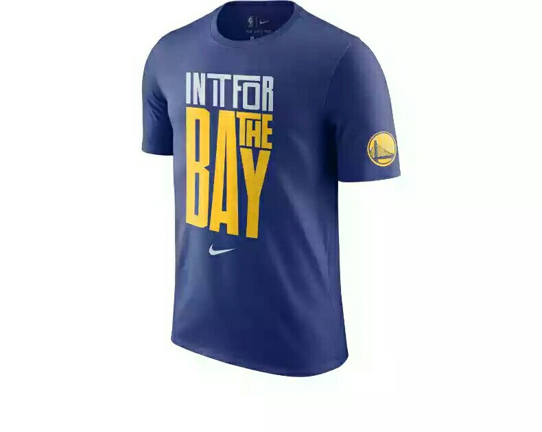 Golden State Warriors  THEBAY Blue Dri Fit Shirt 4825c2824