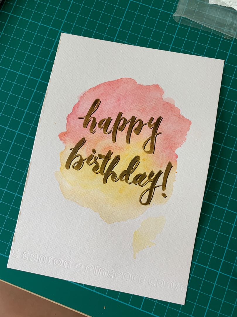 Happy Birthday Card Design Craft Art Prints On Carousell
