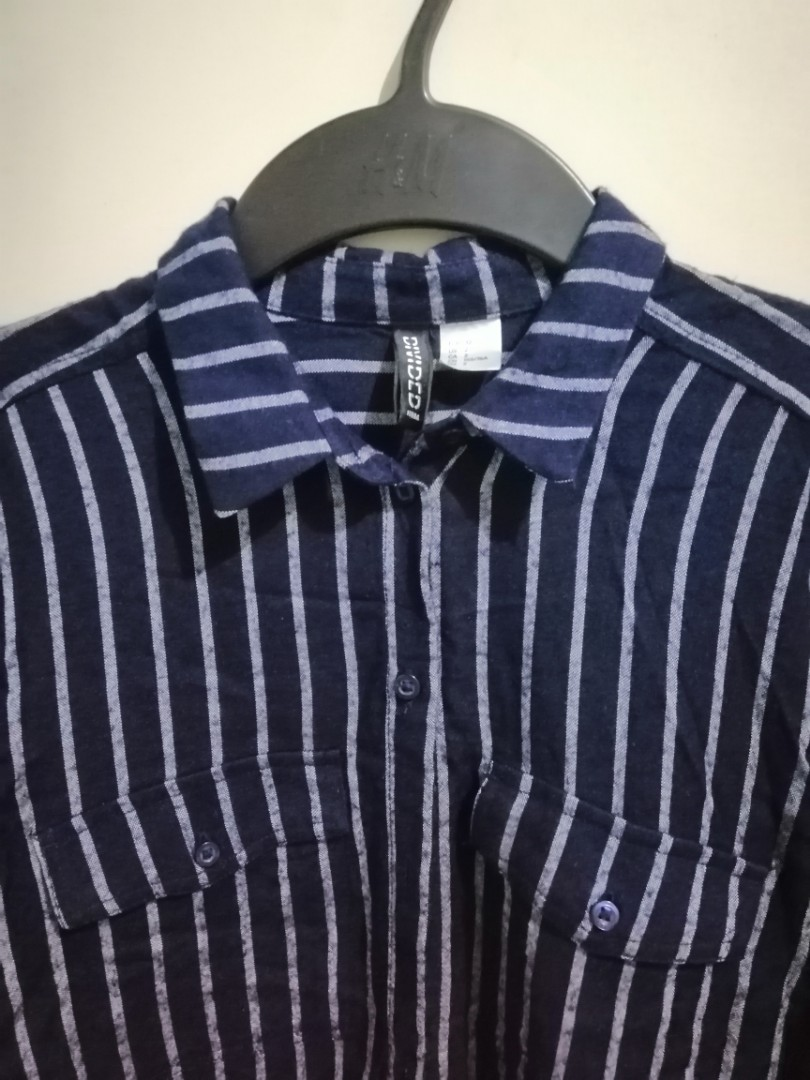 f803b09aad H&M vertical striped button down, Women's Fashion, Clothes, Tops on ...