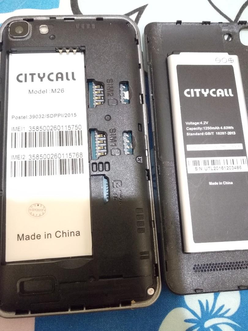 Hp android citycall m26 tinggal pakai, Mobile Phones