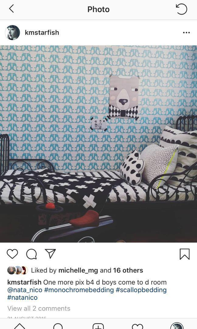 Ikea Minnen Kids Children Black Metal Frame Bed Furniture Beds Mattresses On Carousell
