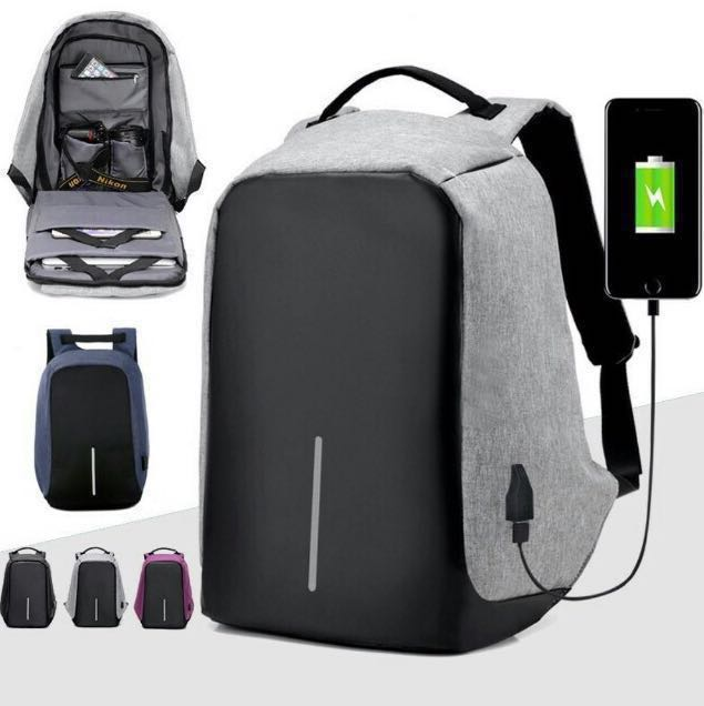 7996a52b7 Instocks! Anti-theft Backpack Men Laptop Bag Multi-Compartment Water ...