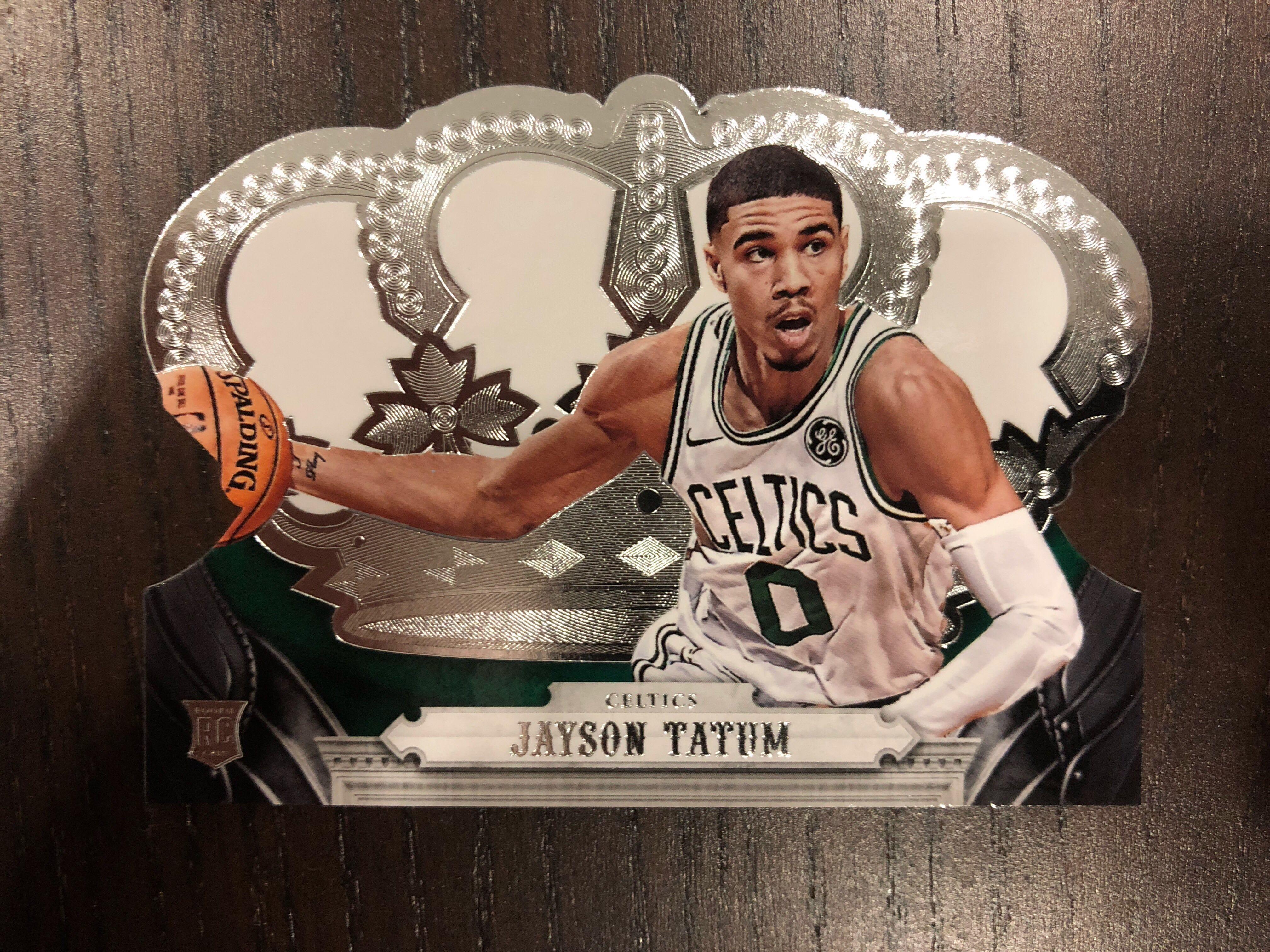 Jayson Tatum 2017 18 Nba Panini Crown Royale Rookie Card